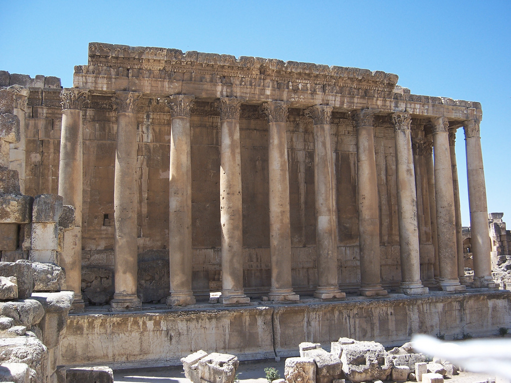 The Temple of Bacchus at Baalbek (I)